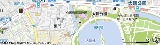 福岡県福岡市中央区大濠公園周辺の地図
