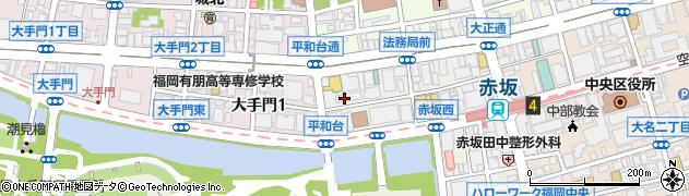 福岡合同事務所周辺の地図