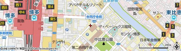 福岡県福岡市博多区博多駅東周辺の地図