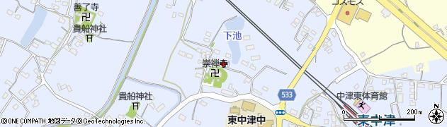大分県中津市是則407周辺の地図