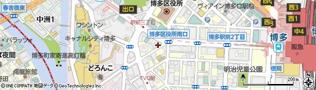 株式会社三好不動産 博多駅前店周辺の地図
