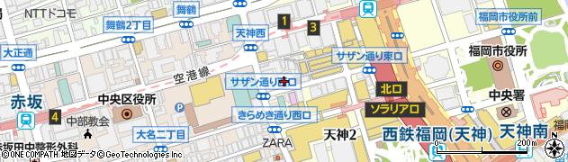 ナチュラルキッチン福岡天神地下街店周辺の地図