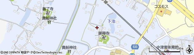 大分県中津市是則414周辺の地図