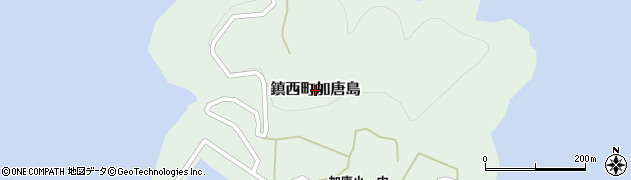 佐賀県唐津市鎮西町加唐島周辺の地図