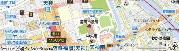 福岡市周辺の地図