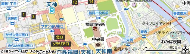 福岡市役所総務企画局 国際部長アジア連携課周辺の地図