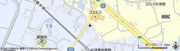 大分県中津市是則474周辺の地図