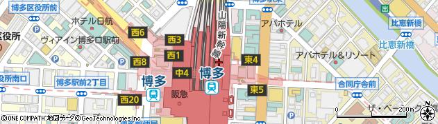 博多ステーションビル 保安課周辺の地図