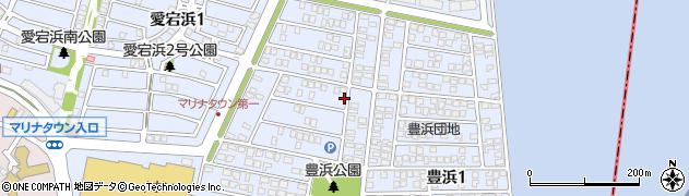豊浜団地周辺の地図