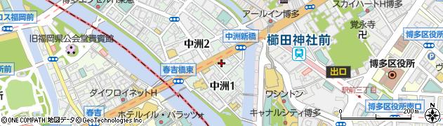 中洲貴金属株式会社周辺の地図