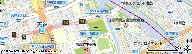 福岡囲碁サロン竹風庵周辺の地図