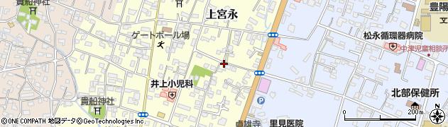 大分県中津市上宮永210周辺の地図