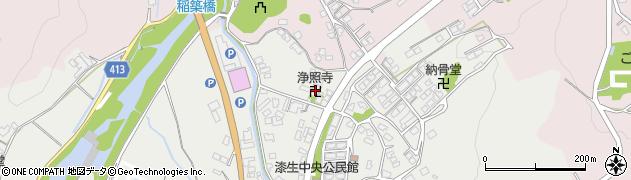淨照寺周辺の地図