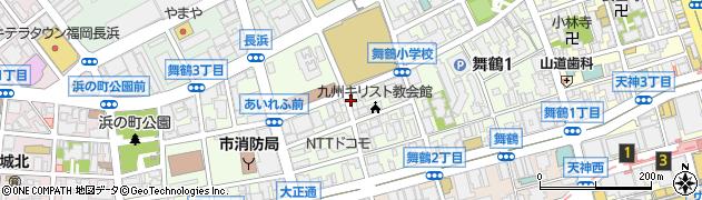 福岡県福岡市中央区舞鶴周辺の地図