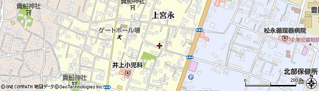 大分県中津市上宮永222周辺の地図