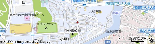 姪浜北団地周辺の地図