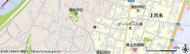 大分県中津市上宮永1182周辺の地図