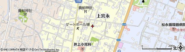 大分県中津市上宮永25周辺の地図