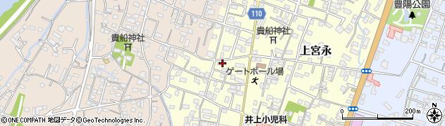 大分県中津市上宮永40周辺の地図