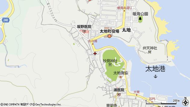 〒649-5371 和歌山県東牟婁郡太地町太地(3772〜3904番地)の地図