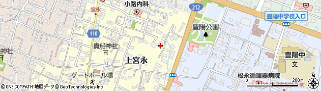 大分県中津市上宮永162周辺の地図
