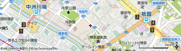 福岡市役所 経済観光文化局関係機関等はかた伝統工芸館周辺の地図