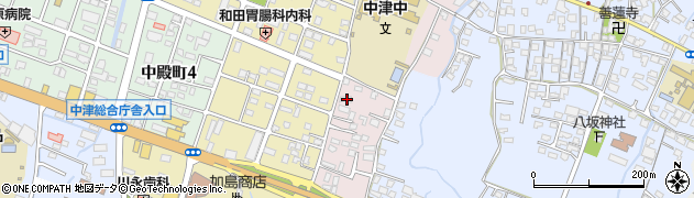 大分県中津市牛神654周辺の地図