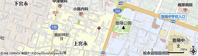 大分県中津市上宮永161周辺の地図