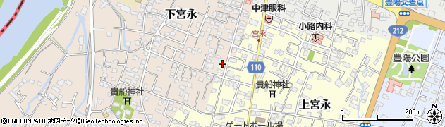 大分県中津市上宮永50周辺の地図