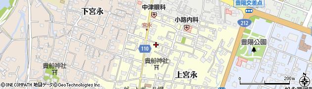 大分県中津市上宮永54周辺の地図