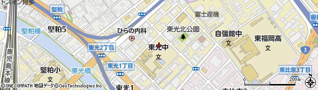 福岡県福岡市博多区東光周辺の地図