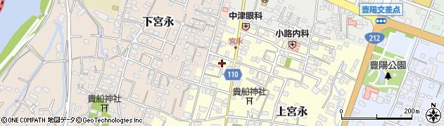 大分県中津市上宮永51周辺の地図