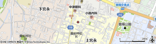 大分県中津市上宮永61周辺の地図