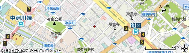 冷泉町米穀店周辺の地図