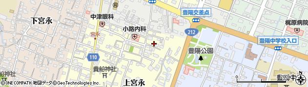 大分県中津市上宮永131周辺の地図