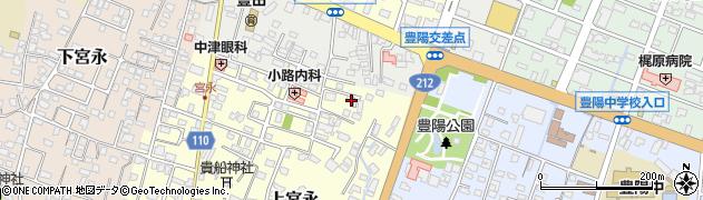 大分県中津市上宮永132周辺の地図