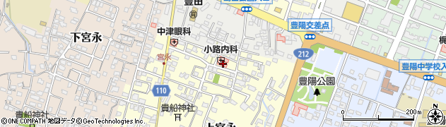大分県中津市上宮永74周辺の地図