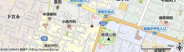 大分県中津市上宮永136周辺の地図