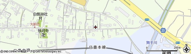 大分県中津市大新田662周辺の地図