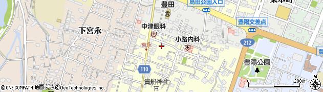 大分県中津市上宮永62-1周辺の地図