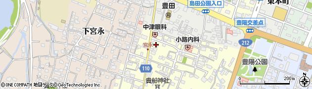 大分県中津市上宮永63周辺の地図
