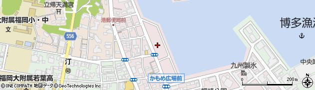 福岡県福岡市中央区港周辺の地図