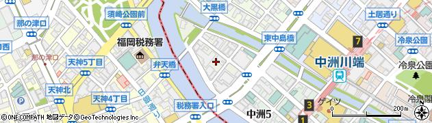 福岡県福岡市博多区中洲中島町周辺の地図