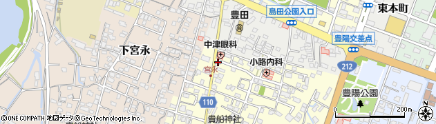 大分県中津市上宮永65周辺の地図