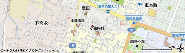 大分県中津市上宮永438周辺の地図