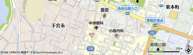 大分県中津市上宮永67周辺の地図