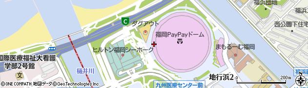 福岡県福岡市中央区地行浜周辺の地図