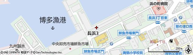 福岡県福岡市中央区長浜周辺の地図