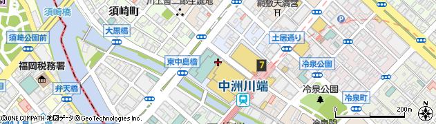 福岡県福岡市博多区下川端町周辺の地図