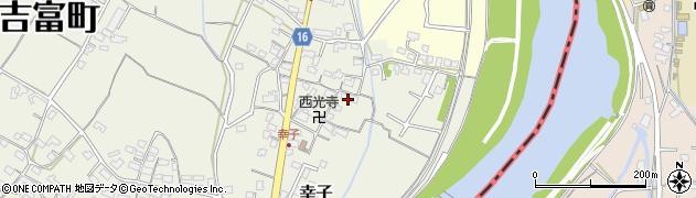 福岡県吉富町(築上郡)幸子周辺の地図